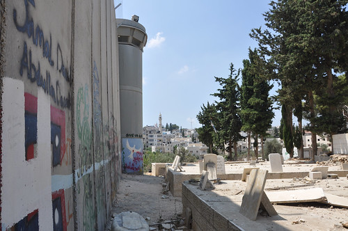 Bethlehem wall and Muslim graveyard