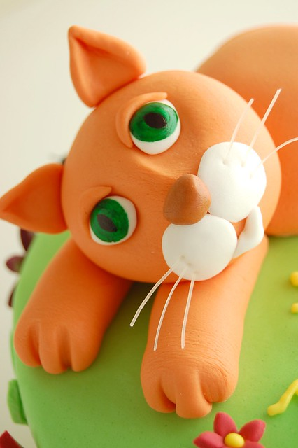 Emma's Kitty Cat Birthday Cake - Cat face