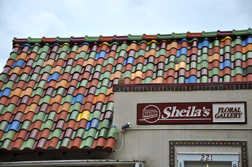 Sheila's Floral Gallery Tile Roof Detail