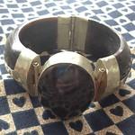 wood stone bracelet