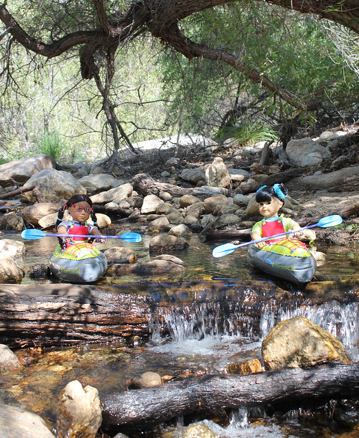 Kayaking in Sabino Canyon