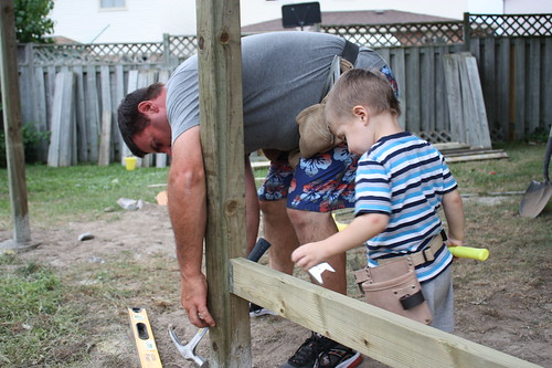 Building the Fence with Dad
