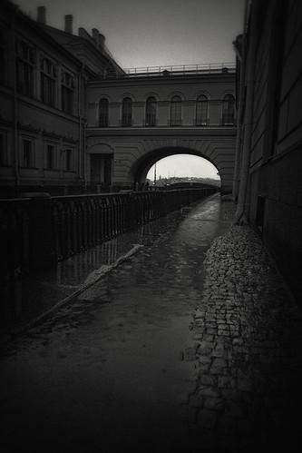 Night. Rain. Architecture by dyadyavasya