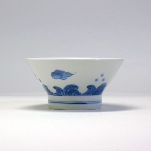 砥部焼 陽貴窯「くらわんか茶碗/雲(小)」