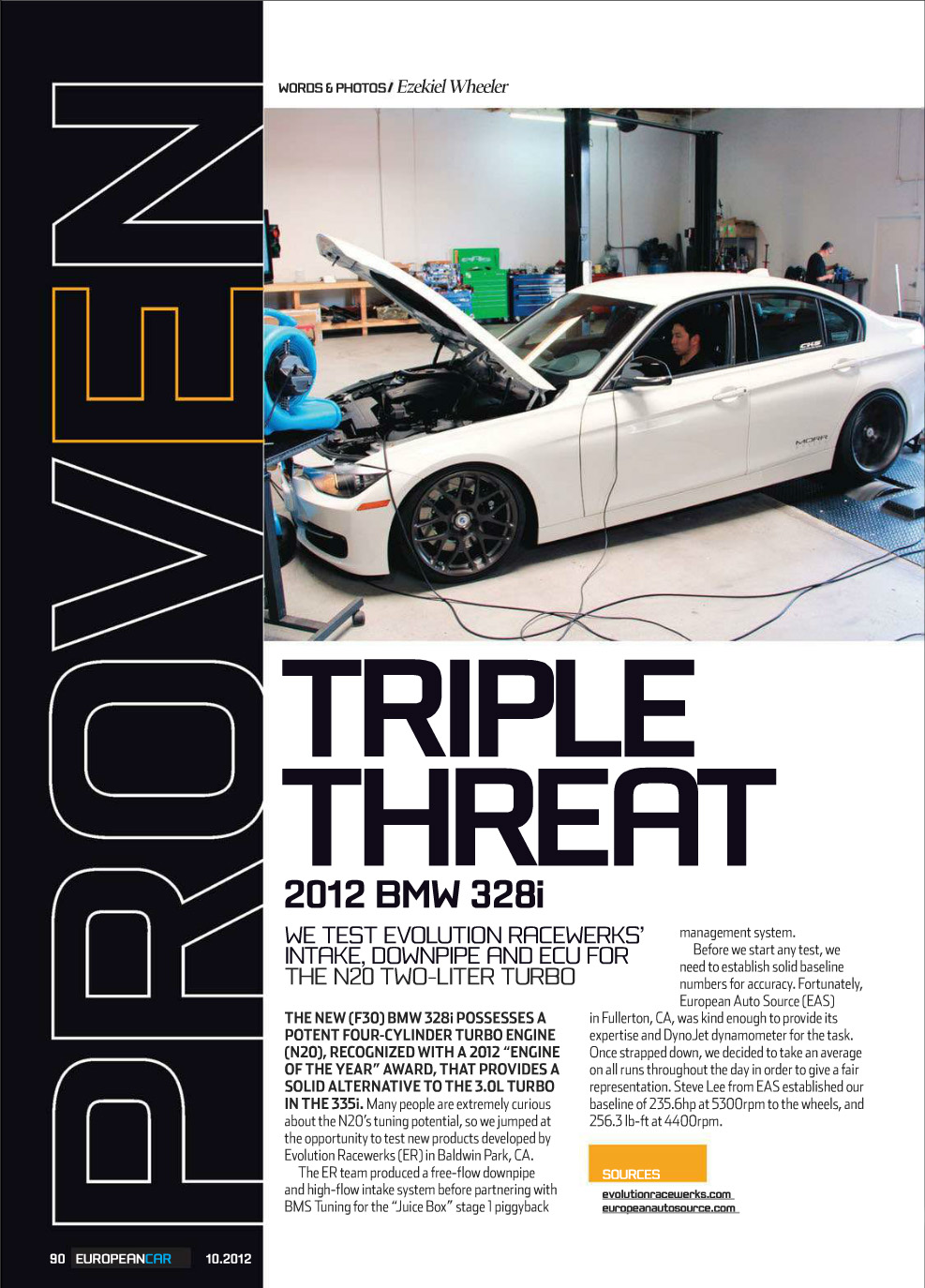 European Car Magazine Review Of Er S F30 328i