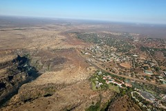 Panorama: Victoria Falls Area from Above
