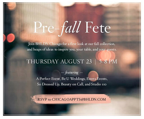 Join us to fete Fall this week at BHLDN