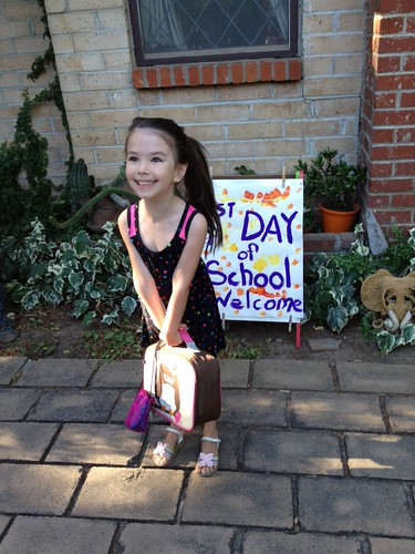 Maia first day of preschool