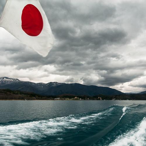 japan eau lac 100views 300views 200views nuage bateau japon drapeau honshu 日本nihon tazawakohan