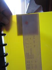 back page folder insert w magnet