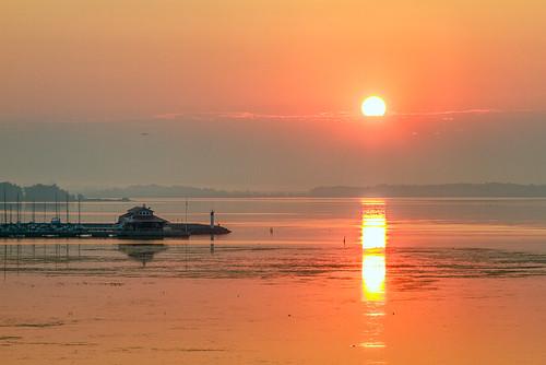 orange water marina sunrise landscape belleville hdr bayofquinte meyerspier