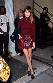 Alexa Chung Oxblood Trend Celebrity Style Women's Fashion