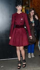 Krysten Ritter Oxblood Trend Celebrity Style Women's Fashion