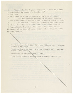 Arizona's Ratification of the 26th Amendment, 05/26/1971 (page 3 of 3)