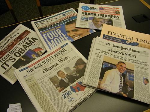 149/365/1610 (November 7, 2012) - Presidential Election Headlines (November 7, 2012) - Obama by cseeman, on Flickr