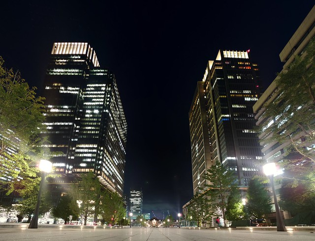 Tokyo station and Marunouchi buildings