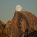 Moon Rise Behind Half Dome by Jeffrey Sullivan