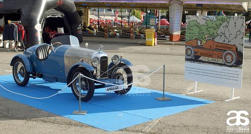 Los coches de Tintín - Espíritu de Montjuïc 2014