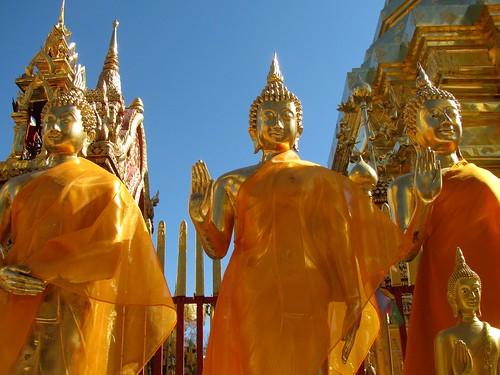 Figuras de Buda en Wat Phra That Doi Suthep