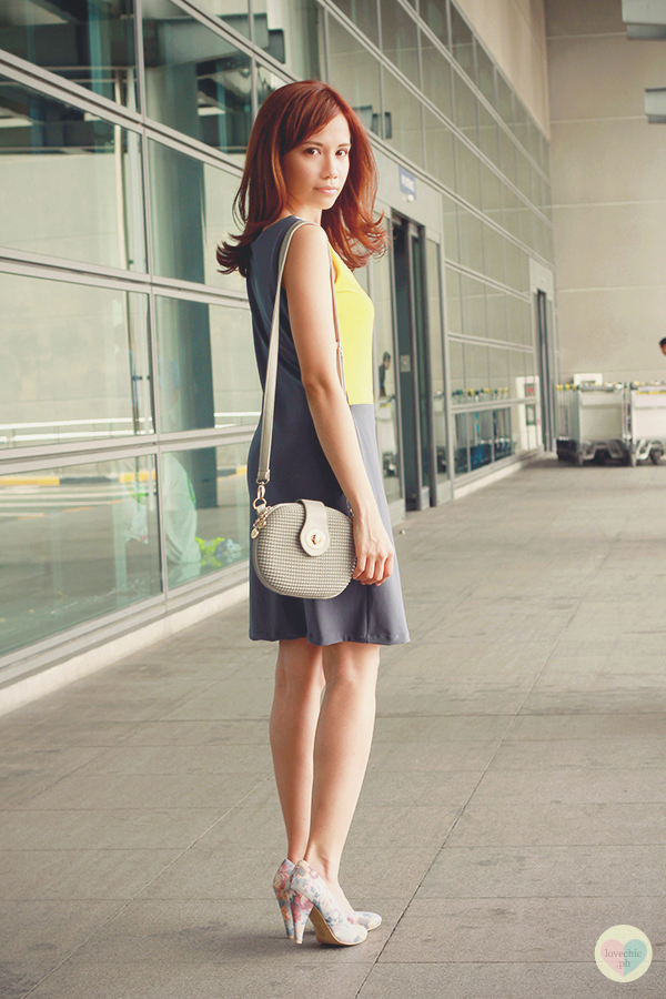love chic tumblr lovechic asian fashion blog shai lagarde shailagarde style fashion blogger travel naia airport incheon cebu pacific flight yellow lime avocado green grey colorblocking dress cole vintage summer corporate forever21 heels floral korea 5