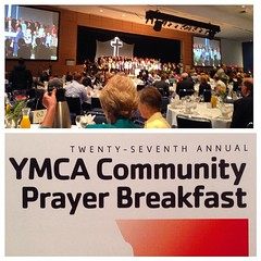 YMCA prayer breakfast in Uptown Charlotte at the Nascar Hall@of Fame this morning with the Visioneering team.