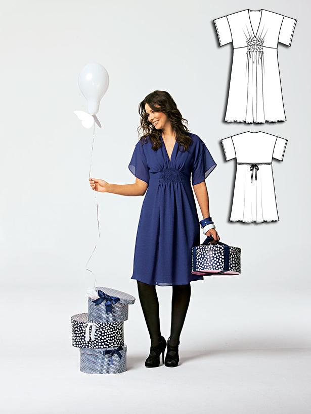 Women's dress sewing pattern 103 052010