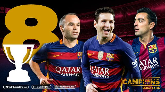 Messi, Iniesta y Xavi: 8 Ligas con el FC Barcelona
