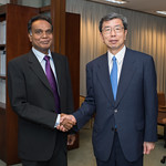 President Nakao Meets AIIB Vice President and Chief Investment Officer