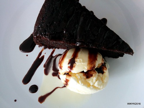 Chocolate Cake & Vanilla Ice Cream