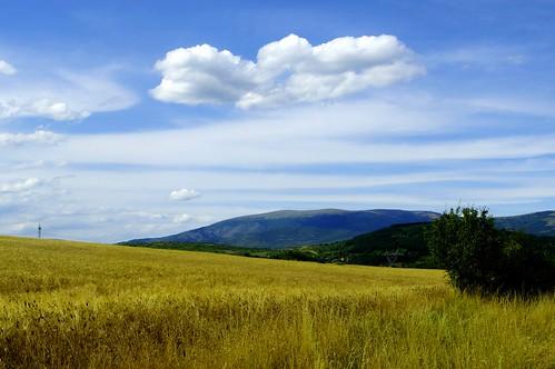 summer sky field landscape outdoor hill bulgaria