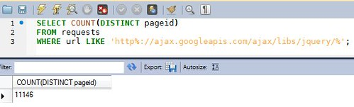 jQuery Count in HTTP Archive