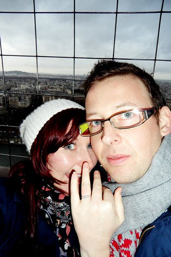 Getting engaged at the top of the Eiffel Tower
