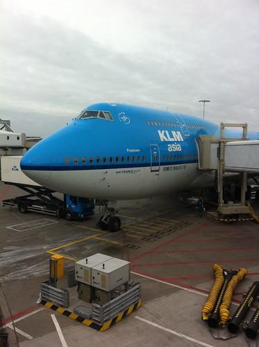 KLM back to Shanghai