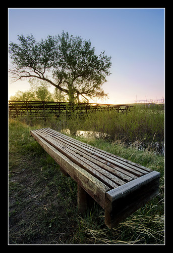 bridge sunset foothills bench landscape nice interesting colorado stream quiet sony peaceful wideangle brush serene alpha frontrange overflow arvada flooded a55 sigma1020 tylerporter tuckerlake ralstoncreektrail