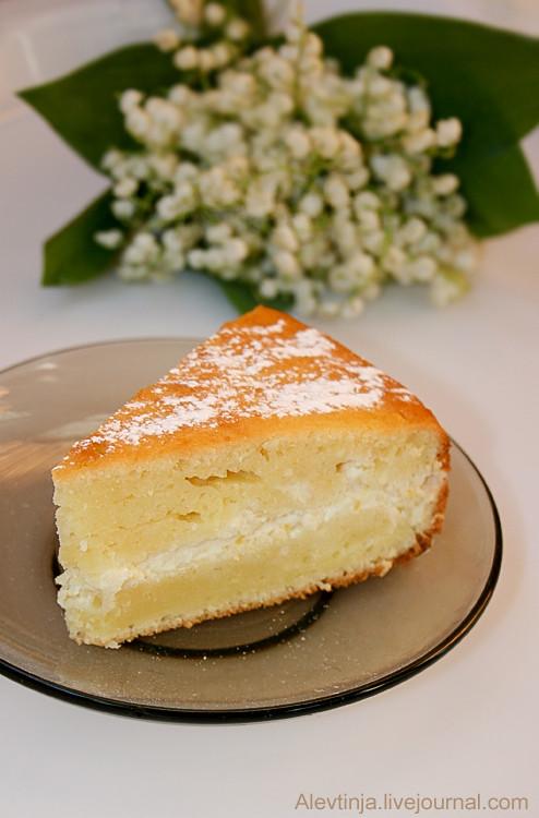 пирог с творожно-лимонной начинкой