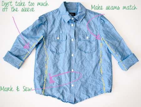 How to make shirt smaller