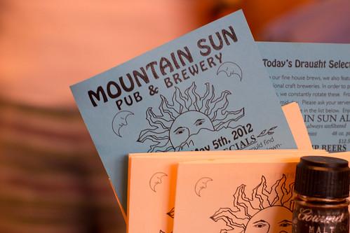 Mountain Sun Pub Menu