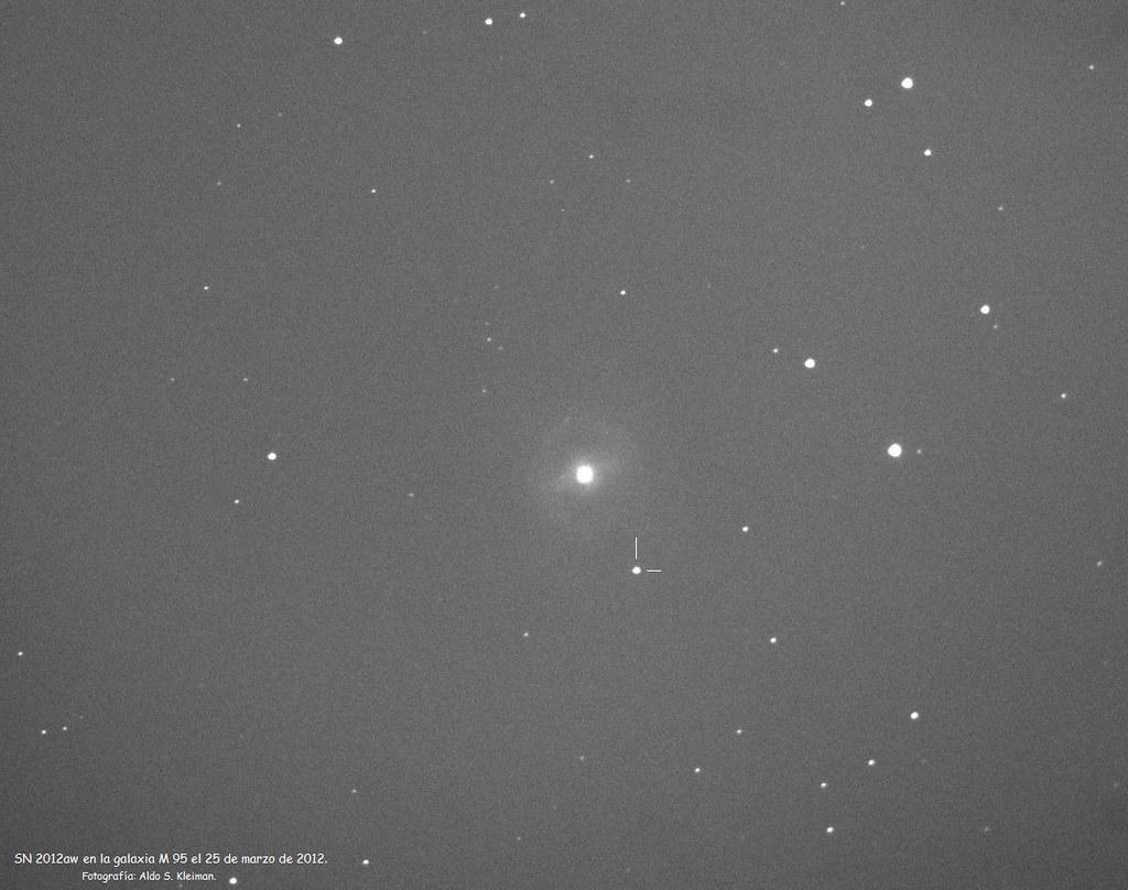 Supernova en la galaxia M 95.