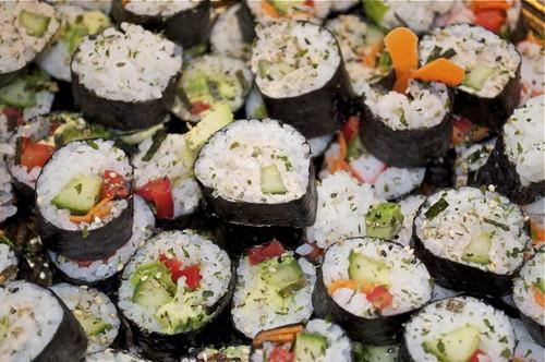 sushi platter close up 2