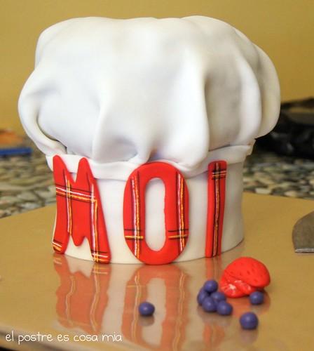 tarta gorro cocinero