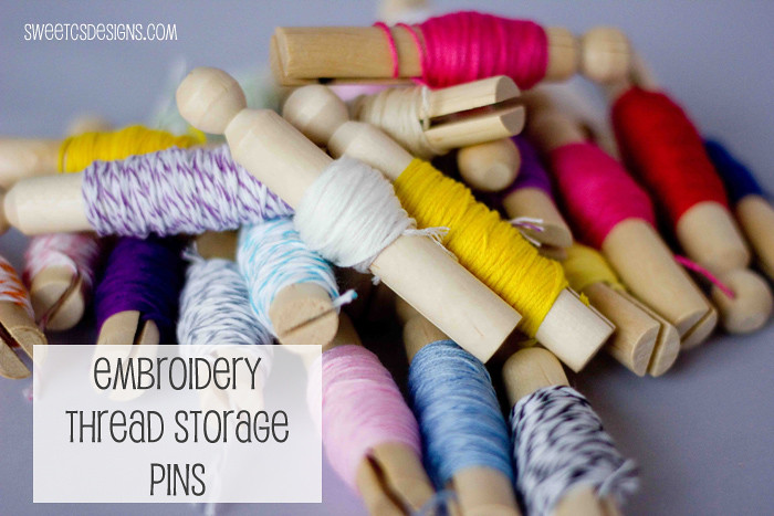 Embroidery Thread Storage Clothes Pins Sweet Cs Designs