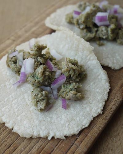 Chorizo verde tacos