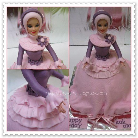Moslem Barbie Cake by DiFa Cakes
