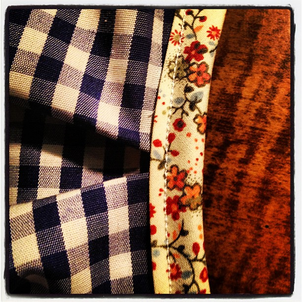 My favorite pattern mix florals and gingham