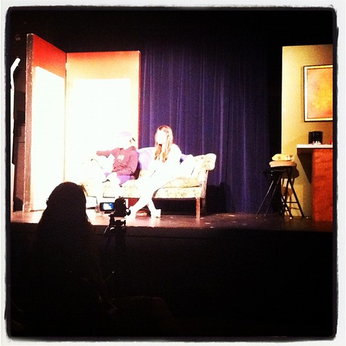 My girl on stage doing her thing. She's such a natural. #drama #homeschool