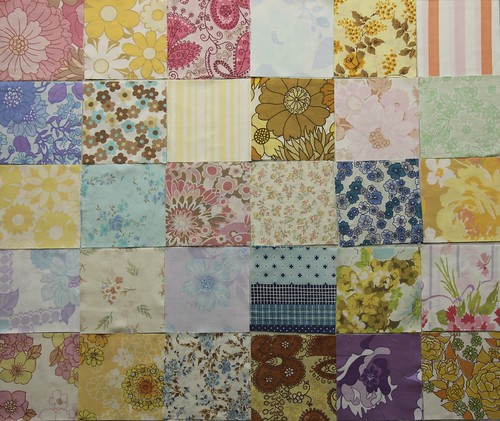 "Vintage Sheet Charm Squares 5"""