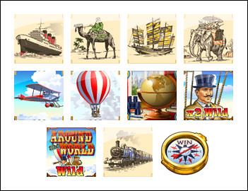 free Around the World slot game symbols