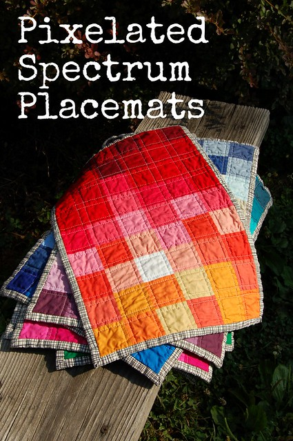 Pixelated Spectrum Placemats Tutorial Cover