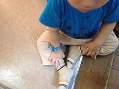 トーマスの腕時計つけてます (2012/6/20)