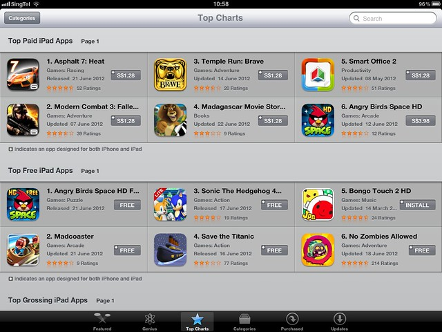 iOS App Store Now In Singapore Dollars (S$) - iPad